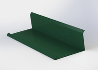 Boční lišta ke zdi - 3D