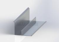 Boční lišta s drážkou 3D - hliník