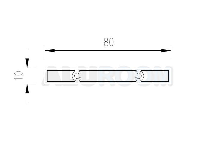 Hliníkový profil extrudovaný - BAT J 80 3D barva RAL