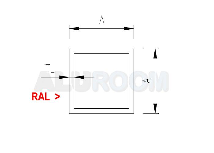Hliníkový profil extrudovaný - Hliníkový jekl 15 x 15 x 1,5 mm