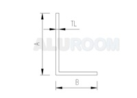 L profil 20 x 30 x 2 mm extrudovaný ABC
