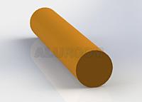 Hliníkový profil extrudovaný - Tyč plná 3D barva RAL