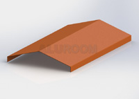 Hřebenová lišta 3d + Barva RAL