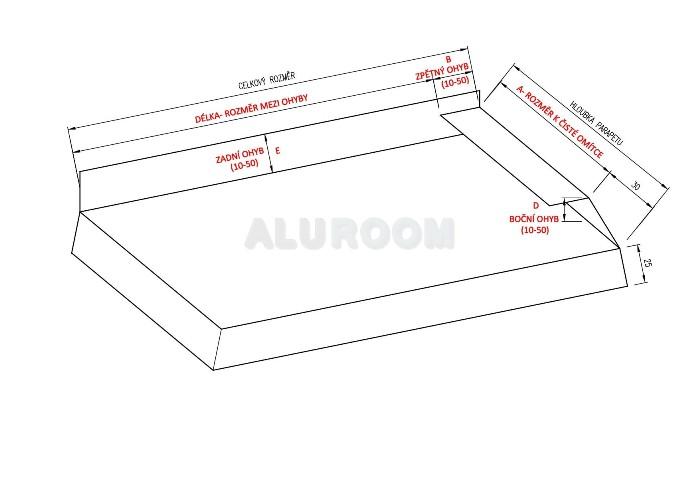Parapet balkonový levý 3D