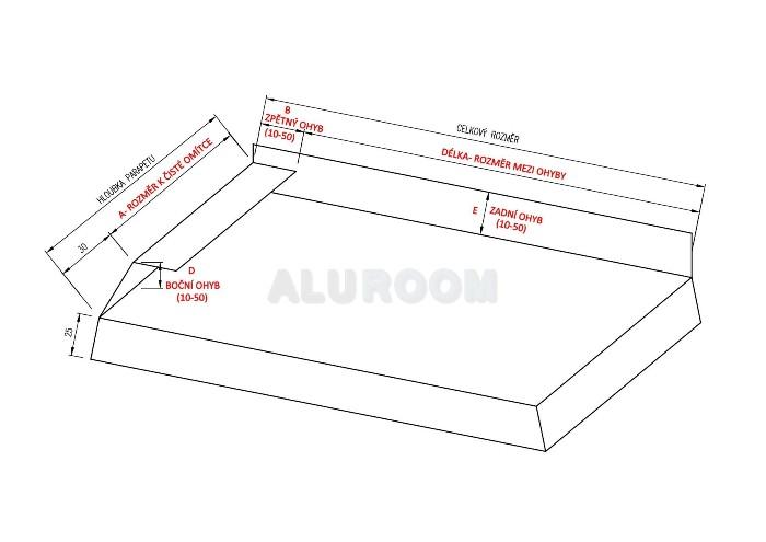 Parapet balkonový pravý 3D