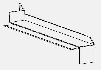 Parapetní spojka rohová-vnitřní roh