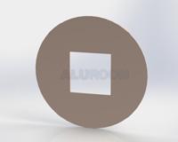 Podložka pod vypínač - kulatá 3D barva RAL