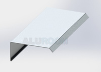 Závětrná lišta čelní 3D hliník