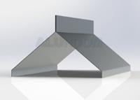 Hřebenová lišta pro hromosvod 3D