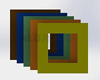 Podložky pod vypínač AA 3D barva RAL