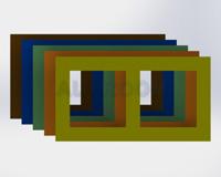 Rámeček pod dva vypínače 3D barva RAL