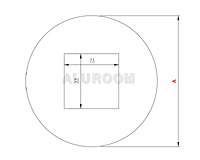 Podložka pod vypínač - kulatá ABC