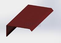 Závětrná lišta čelní barva RAL